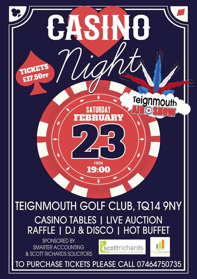 Casino night for Teignmouth Airshow