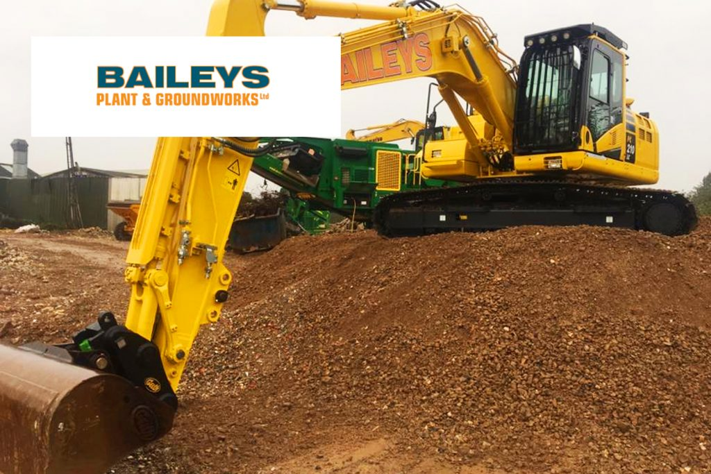 Baileys plant and groundworks, Devon. Teignmouth Airshow sponsor.