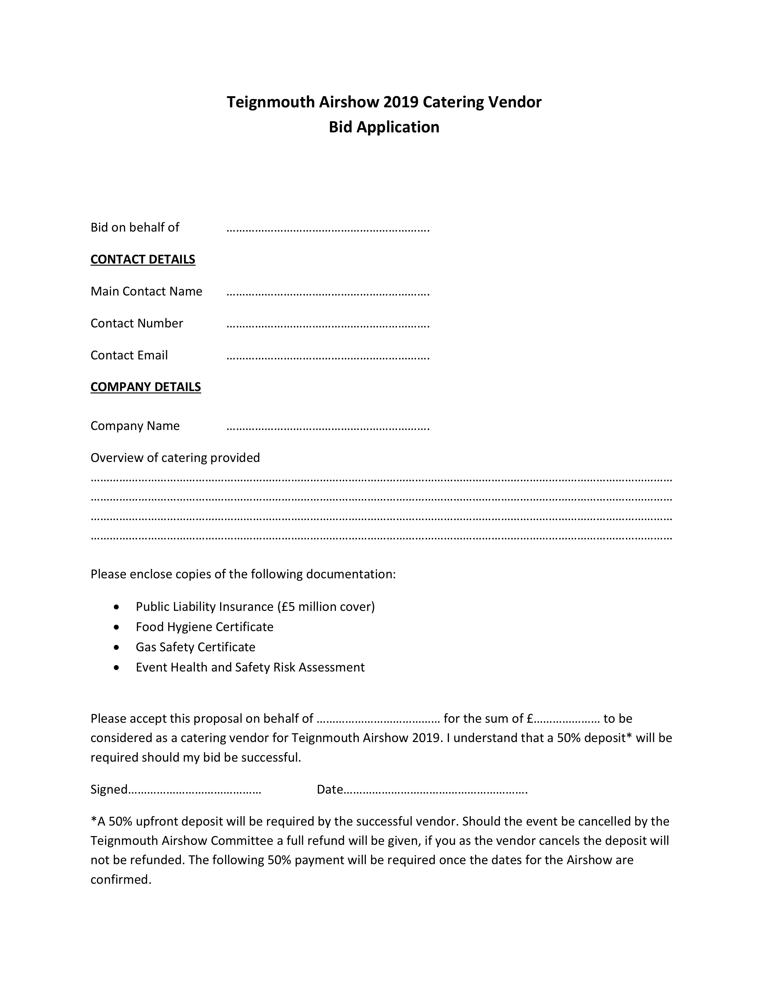 catering application